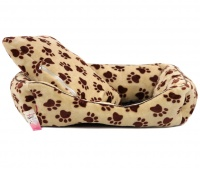 Pelíšek pro psy od For My Dogs. Měkoučké bočnice, nadýchaný vyjímatelný polštář, celý pelíšek je vyrobený z plyšového flísu. Barva béžová. (7)