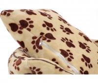 Pelíšek pro psy od For My Dogs. Měkoučké bočnice, nadýchaný vyjímatelný polštář, celý pelíšek je vyrobený z plyšového flísu. Barva béžová. (8)