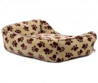 Pelíšek pro psy od For My Dogs. Měkoučké bočnice, nadýchaný vyjímatelný polštář, celý pelíšek je vyrobený z plyšového flísu. Barva béžová. (5)