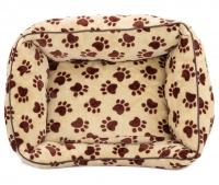 Pelíšek pro psy od For My Dogs. Měkoučké bočnice, nadýchaný vyjímatelný polštář, celý pelíšek je vyrobený z plyšového flísu. Barva béžová. (6)