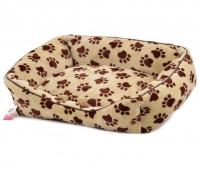 Pelíšek pro psy od For My Dogs. Měkoučké bočnice, nadýchaný vyjímatelný polštář, celý pelíšek je vyrobený z plyšového flísu. Barva béžová. (2)