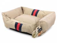 Pelíšek pro psy Rosewood Gold Water Resistant pro malé, střední i velké psy. Bohatě vycpané bočnice, snížená přední strana, voděodolný. Výběr velikostí. (2)