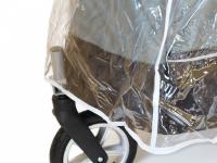 Pláštěnka proti dešti určená na velký kočárek pro psy PetStro SKYLINE. Snadné nasazení a upevnění pomocí suchých zipů, zakrývá celý kočárek. (2)