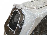 Pláštěnka proti dešti určená na velký kočárek pro psy PetStro SKYLINE. Snadné nasazení a upevnění pomocí suchých zipů, zakrývá celý kočárek.