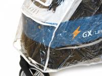 Pláštěnka proti dešti určená na kočárek pro psy PetStro SAFARI. Snadné nasazení a upevnění pomocí suchých zipů, zakrývá celý kočárek. (3)