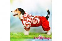 Obleček pro fenky malých až středních plemen – lehoučká pláštěnka CHOCOLATE od For My Dogs. (11)
