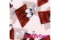 Obleček pro fenky malých až středních plemen – lehoučká pláštěnka CHOCOLATE od For My Dogs. (2)