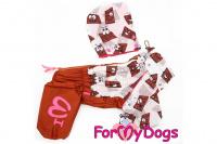Obleček pro fenky malých až středních plemen – lehoučká pláštěnka CHOCOLATE od For My Dogs. (3)