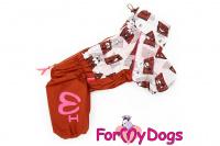 Obleček pro fenky malých až středních plemen – lehoučká pláštěnka CHOCOLATE od For My Dogs. (4)