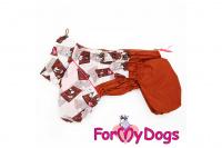Obleček pro fenky malých až středních plemen – lehoučká pláštěnka CHOCOLATE od For My Dogs. (5)