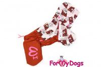 Obleček pro fenky malých až středních plemen – lehoučká pláštěnka CHOCOLATE od For My Dogs. (6)