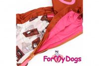 Obleček pro fenky malých až středních plemen – lehoučká pláštěnka CHOCOLATE od For My Dogs. (7)