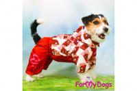 Obleček pro fenky malých až středních plemen – lehoučká pláštěnka CHOCOLATE od For My Dogs. (8)