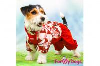 Obleček pro fenky malých až středních plemen – lehoučká pláštěnka CHOCOLATE od For My Dogs. (9)