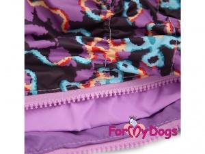 Obleček pro psy – světle fialová pláštěnka pro fenky ForMyDogs LILLAC, detail podšívky