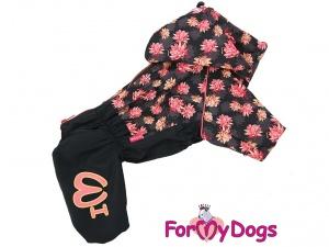 Oblečky pro psy i fenky – inovovaná, super komfortní a funkční pláštěnka pro fenky PINK FLOWER (2)