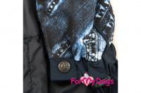 Obleček pro psy malých až středních plemen – lehoučká pláštěnka BLUE DENIM od ForMyDogs. Zapínání na druky na břiše, hladká podšívka. (2)