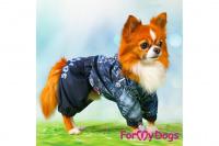 Obleček pro psy malých až středních plemen – lehoučká pláštěnka BLUE DENIM od ForMyDogs. Zapínání na druky na břiše, hladká podšívka. (5)