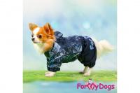 Obleček pro psy malých až středních plemen – lehoučká pláštěnka BLUE DENIM od ForMyDogs. Zapínání na druky na břiše, hladká podšívka. (6)