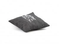 """Ručně šitý měkoučký polštář s originální výšivkou ze speciální edice """"Yorkšírský teriér"""" (3)"""