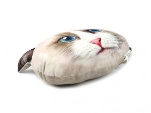 Polštář ve tvaru hlavy kočky plemene Ragdoll (2)