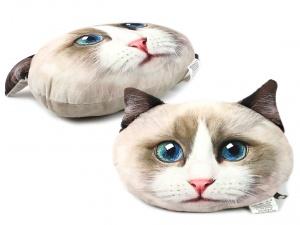 Polštář ve tvaru hlavy kočky plemene Ragdoll (3)