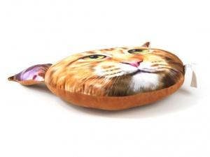 Originální měkoučký nadýchaný polštář ve tvaru hlavy mainské mývalí kočky (2)