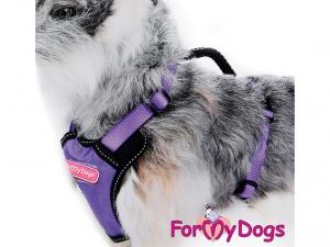 """Postroje pro psy – hrudní postroj """"PURPLE"""" od ForMyDogs, fialový (3)"""