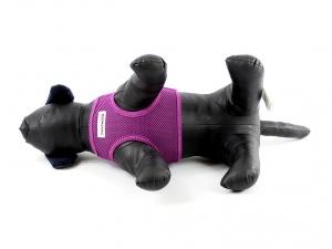 Fialový postroj pro psy Doodlebone, pohled zdola