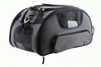 Příruční taška na psy do letadla schválená většinou leteckých společností. Polstrovaný pás pro nošení přes rameno, tvar držící materiál EVO, rozměry 45 × 27 × 25 cm. (3)