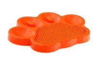 Zpomalovací miska pro psy PetDreamHouse 2v1 – oranžová (3)