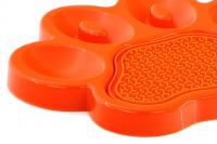Zpomalovací miska pro psy PetDreamHouse 2v1 – oranžová (6)