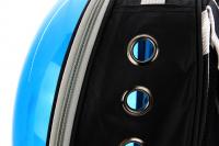 Průhledný batoh na psa do 4 kg NOBLEZA – modrý (11)