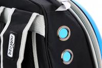 Průhledný batoh na psa do 4 kg NOBLEZA – modrý (9)