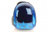 Průhledný batoh na psa do 4 kg NOBLEZA – modrý