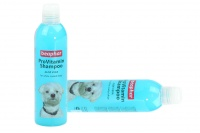 Šampón pro psy BEAPHAR s aloe vera speciálně vyvinutý pro bílé psy, který aktivuje přirozenou pigmentaci srsti. Objem 250 ml (2).