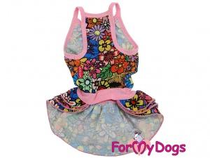 Oblečky pro psy – stylové letní bavlněné šaty pro fenky FLOWERS od ForMyDogs (2)