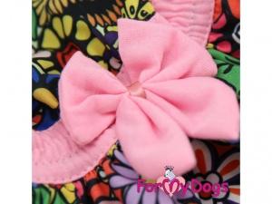 Oblečky pro psy – stylové letní bavlněné šaty pro fenky FLOWERS od ForMyDogs (detail)
