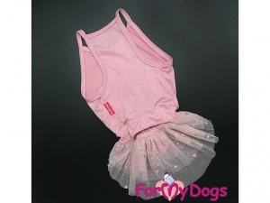 Oblečky pro psy – růžové šaty pro fenky od ForMyDogs z tenké pleteniny s tylovou baletní sukní (2)