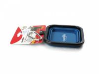 Skládací silikonová miska pro psy na vodu a krmivo. Barvy modrá, červená a oranžová, objem 1 l. (8)