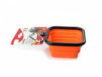 Skládací silikonová miska pro psy na vodu a krmivo. Barvy modrá, červená a oranžová, objem 1 l. (5)