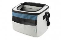 Luxusní box-taška na psa k připevnění na řídítka. Pevná stabilní konstrukce, jednoduché uchycení pomocí nylonových popruhů, vpředu kapsa na zip, možnost přenášení přes rameno. Maximální nosnost 10 kg, rozměry 40 × 25 × 30 cm. (5)