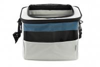 Luxusní box-taška na psa k připevnění na řídítka. Pevná stabilní konstrukce, jednoduché uchycení pomocí nylonových popruhů, vpředu kapsa na zip, možnost přenášení přes rameno. Maximální nosnost 10 kg, rozměry 40 × 25 × 30 cm. (6)