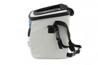 Luxusní box-taška na psa k připevnění na řídítka. Pevná stabilní konstrukce, jednoduché uchycení pomocí nylonových popruhů, vpředu kapsa na zip, možnost přenášení přes rameno. Maximální nosnost 10 kg, rozměry 40 × 25 × 30 cm. (7)
