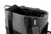 Luxusní taška na psy v praktickém designu a precizním provedení od HUNTER. Tři síťované strany, vyjímatelná podložka, bezpečnostní poutko s karabinou. Nosnost 8 kg. (10)