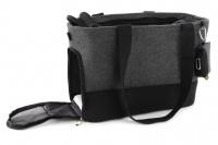 Luxusní taška na psy v praktickém designu a precizním provedení od HUNTER. Tři síťované strany, vyjímatelná podložka, bezpečnostní poutko s karabinou. Nosnost 8 kg. (11)