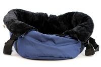 Taška na psy od BOBBY z měkkého a příjemného materiálu vhodná pro štěňata, jorkšíry, čivavy apod. Nosnost 5 kg, barva modrá (13).