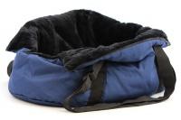 Taška na psy od BOBBY z měkkého a příjemného materiálu vhodná pro štěňata, jorkšíry, čivavy apod. Nosnost 5 kg, barva modrá (14).