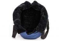 Taška na psy od BOBBY z měkkého a příjemného materiálu vhodná pro štěňata, jorkšíry, čivavy apod. Nosnost 5 kg, barva modrá (15).