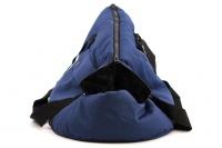 Taška na psy od BOBBY z měkkého a příjemného materiálu vhodná pro štěňata, jorkšíry, čivavy apod. Nosnost 5 kg, barva modrá (2).